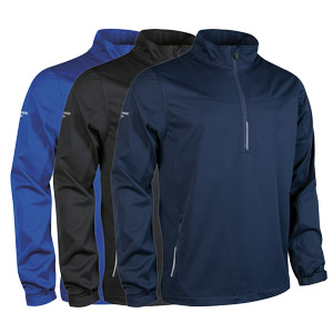 Glenmuir Mens Water Repllent Zip Neck Performance Windshirt