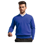 9774 Glenmuir Lomond V Neck Lambswool Sweater